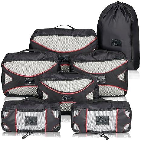 Loarato - Organizador para maletas Negro rojo/negro