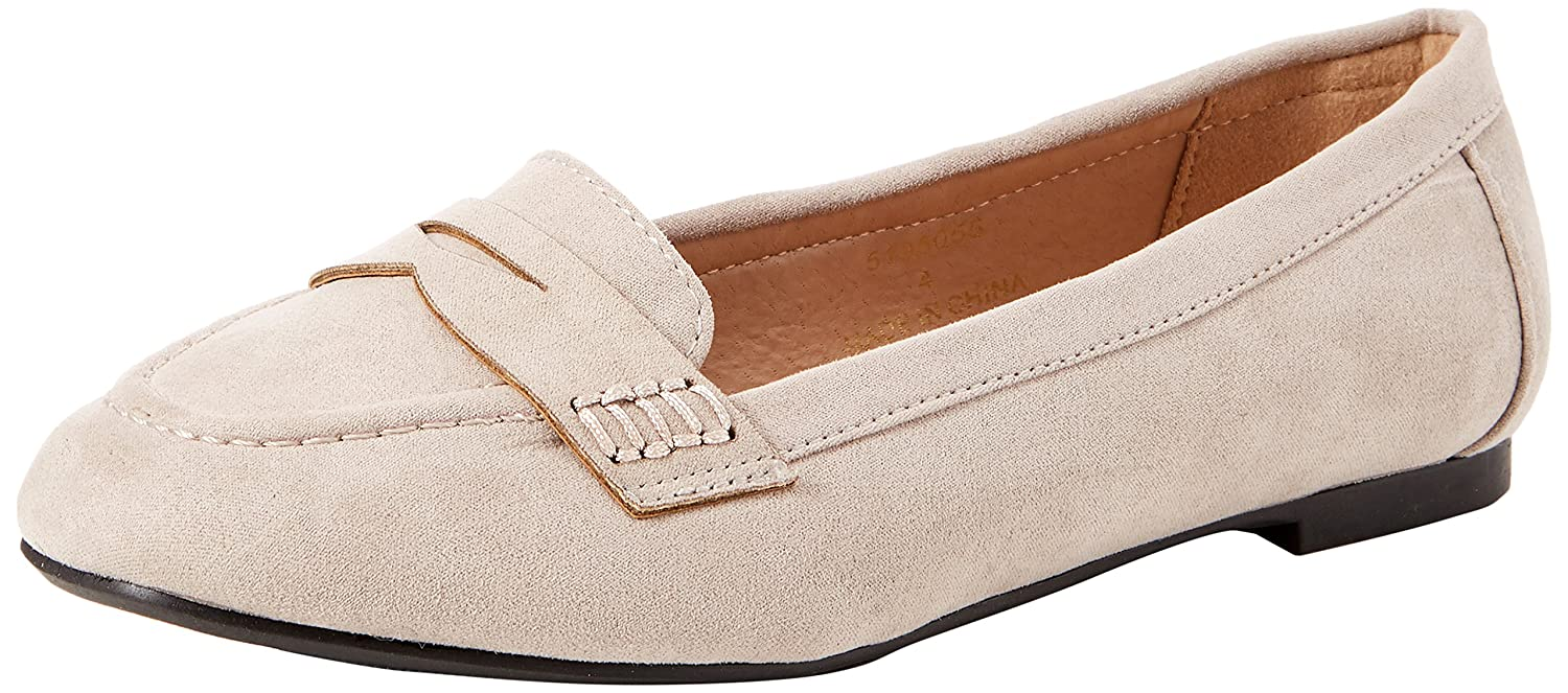 New Look Wide Foot Janna Mocasines Mujer, Gris (Mid Grey 4), 39 EU (6 UK): Amazon.es: Zapatos y complementos