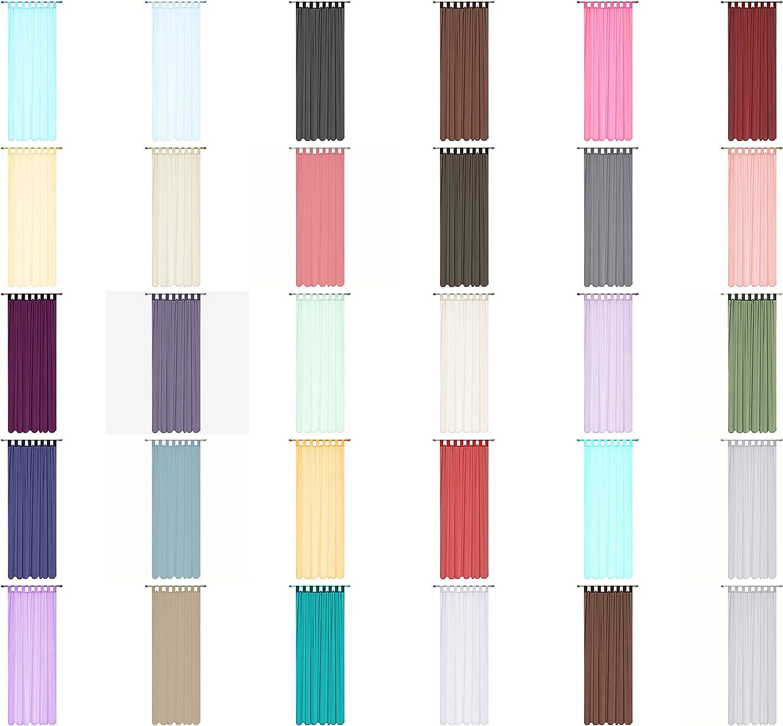 28 Colores Coral 2 Paneles 56 wideX36 Drop Megachest Lucy Cortina de Gasa con Lazos W142cmXH91.5cm