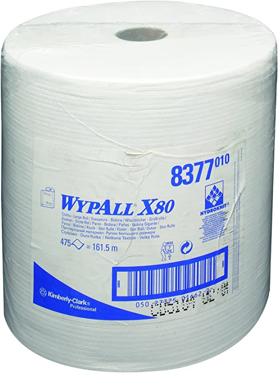 12/½ Length White Pack of 475 Shop Towels Kimberly-Clark 41025 Wypall X80 Wipe 12/½ Length 13.4 Width Kimberly-Clark Consumer 13.4 Width Jumbo Roll