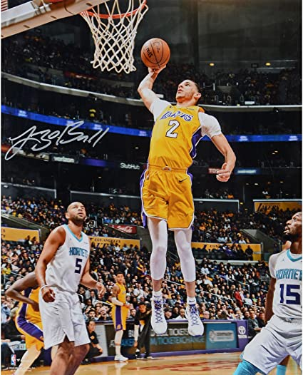 eb6506f42 Lonzo Ball Los Angeles Lakers Autographed 16 quot  x 20 quot  Jumping  Photograph - Fanatics Authentic