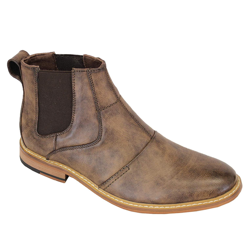 Cavani Mens Boots Chelsea Dealer Shoes High Ankle Leather Look Designer  New  Amazon.co.uk  Shoes   Bags 56857636882