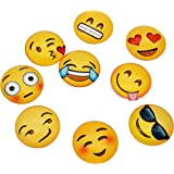 Poproo Glass Emoji Magnets Set of 9, Cute Refrigerator Magnet for Magnetic Whiteboards Dry Erase Boards and Fridge