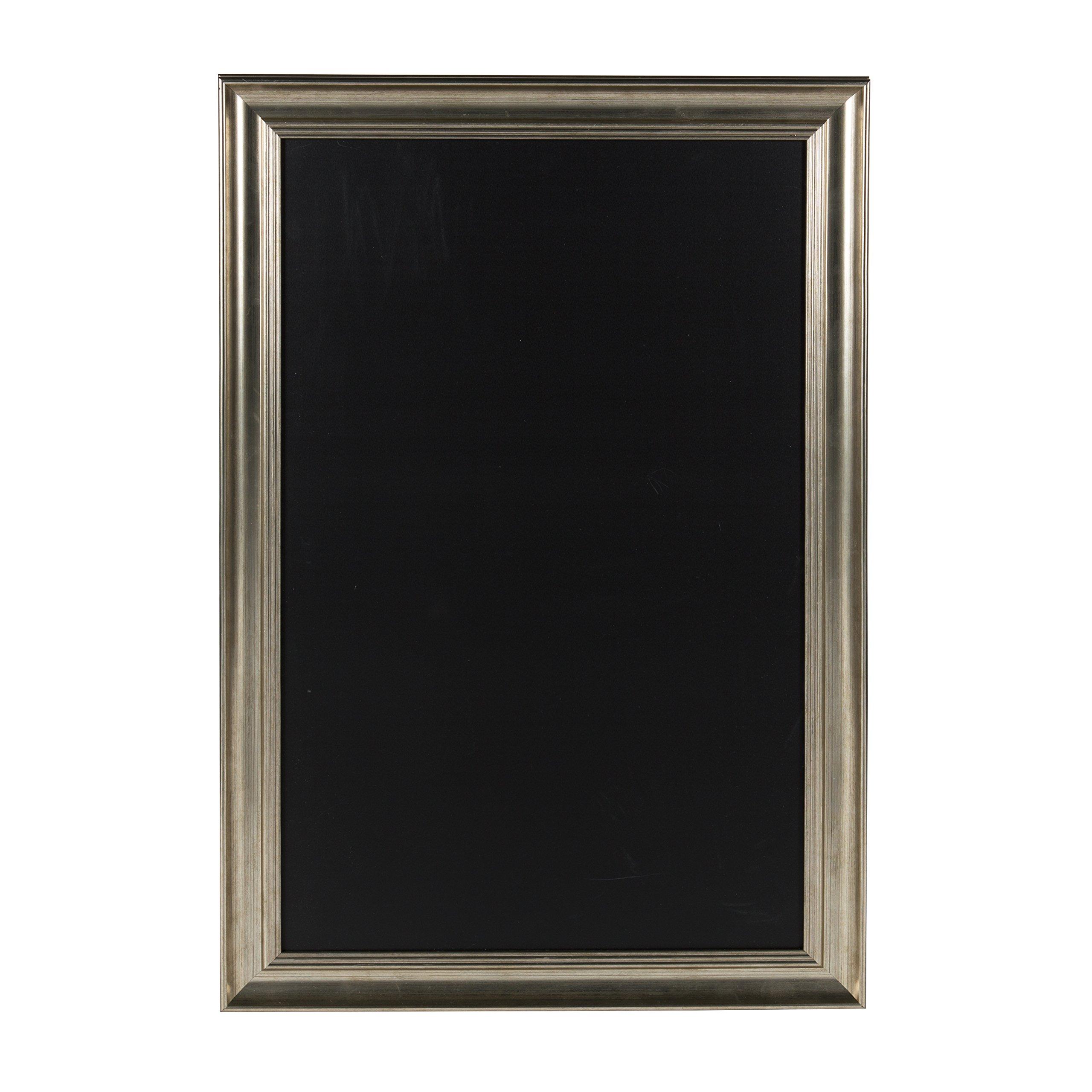 Kate and Laurel Macon Framed Magnetic Chalkboard, 18x27, Pewter