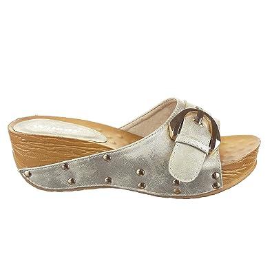 100% de qualité supérieure le moins cher magasin en ligne Sopily - Chaussure Mode Sandale compensée Claquettes ...