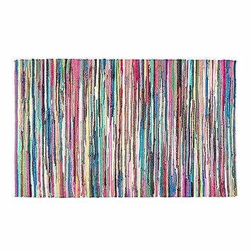 Fleckerlteppich  Homescapes Chindi Flickenteppich 60 x 90 cm aus 100% Recycelter ...