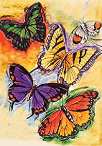 "Toland Home Garden 112596 Flight of The Butterflies 12.5 x 18 Inch Decorative, Garden Flag-12.5"" x18"""