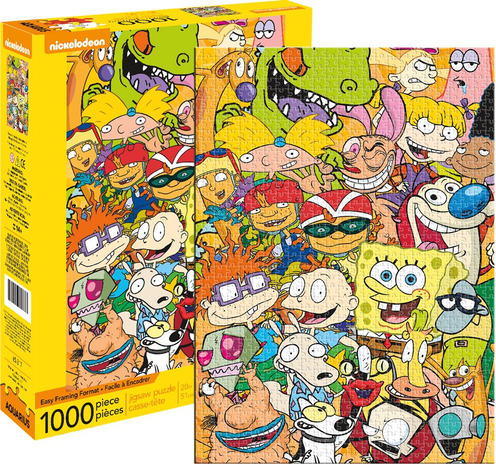 Aquarius Nickelodeon Cast 1000 Piece Jigsaw Puzzle NMR Distribution 65317 Accessory Consumer Accessories