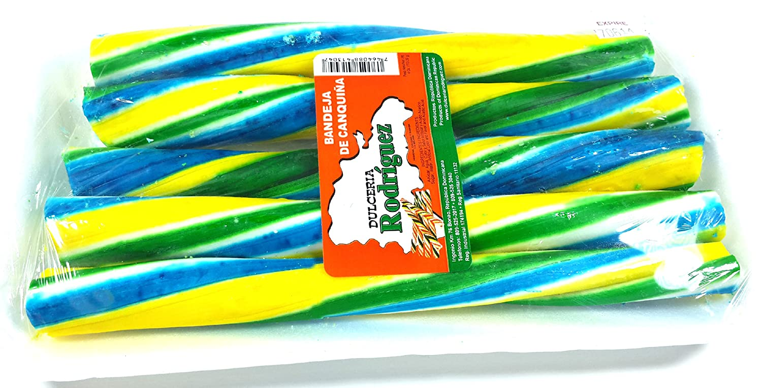 Amazon.com : Dominican Sweet & Colorful Coconut Sticks Dessert Canquiña Dulce 3 Pack : Grocery & Gourmet Food