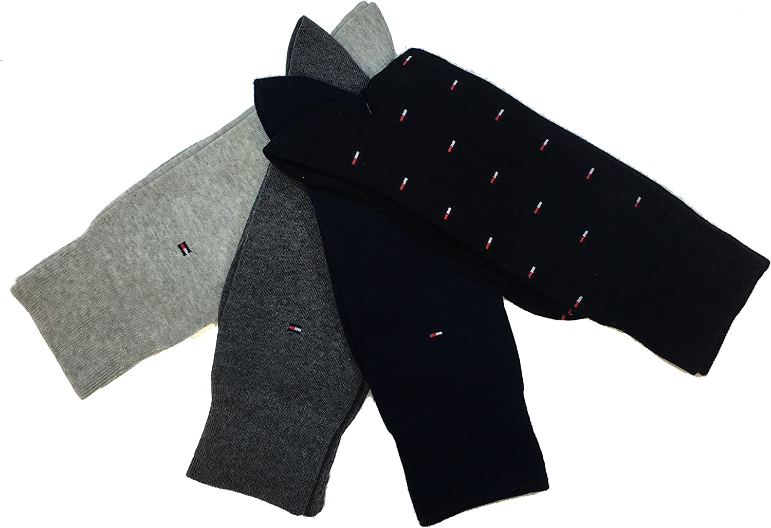 Tommy Hilfiger 4 Pair Full Cushion Comfort Men's Casual Day Dress Socks