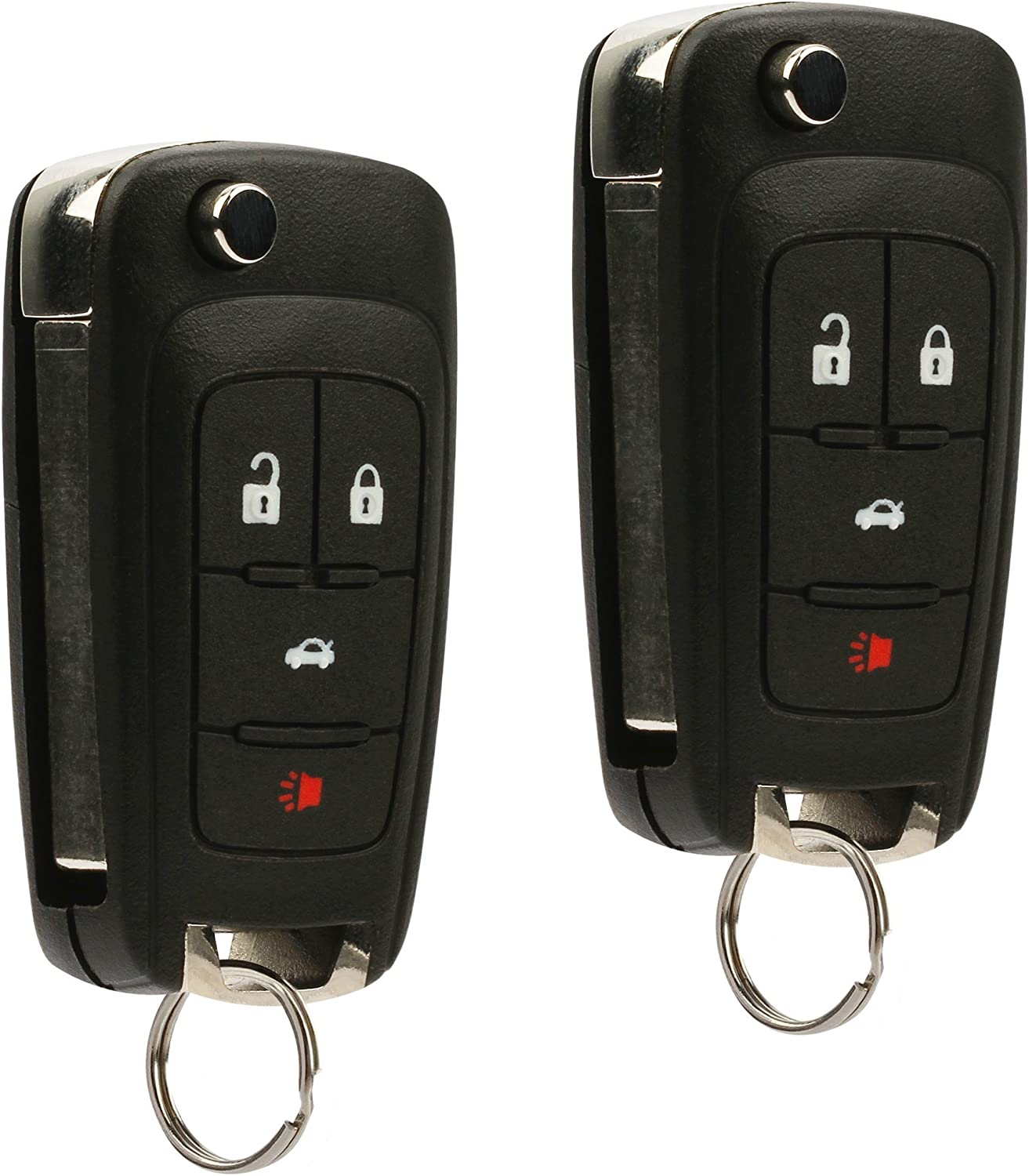 4 Button Car Remote Flip Key Fob Control For Buick For GMC For Chevy