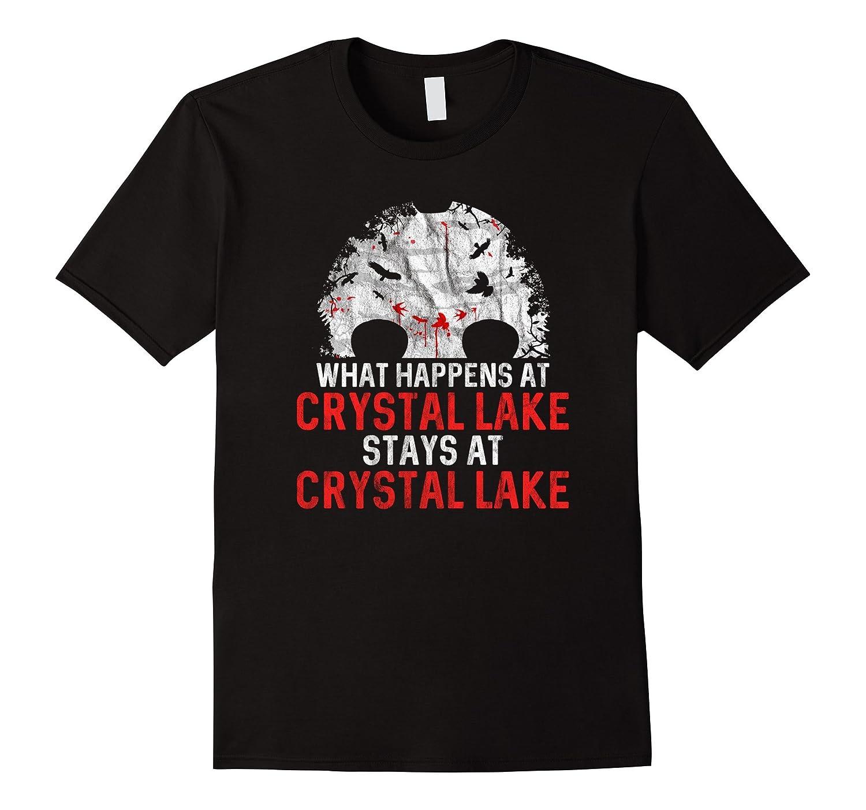 Crystal Lake Counselor Shirt - Retro Horror Movie Camping-Rose