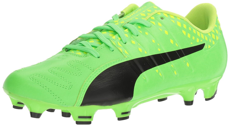 Scarpe da calcio da uomo Evopower Vigor 3 Lth FG, verde Gecko-Puma da colore giallo nero e sicurezza, 10 M US