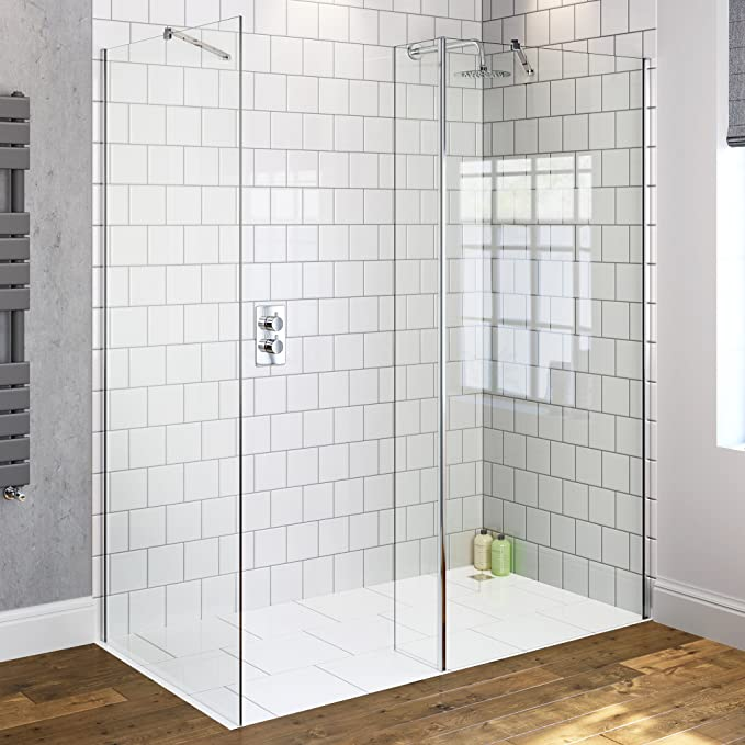 800 x 700 mm diseño de mojado habitación de mampara para ducha de cristal + retorno de Panel: iBathUK: Amazon.es: Hogar