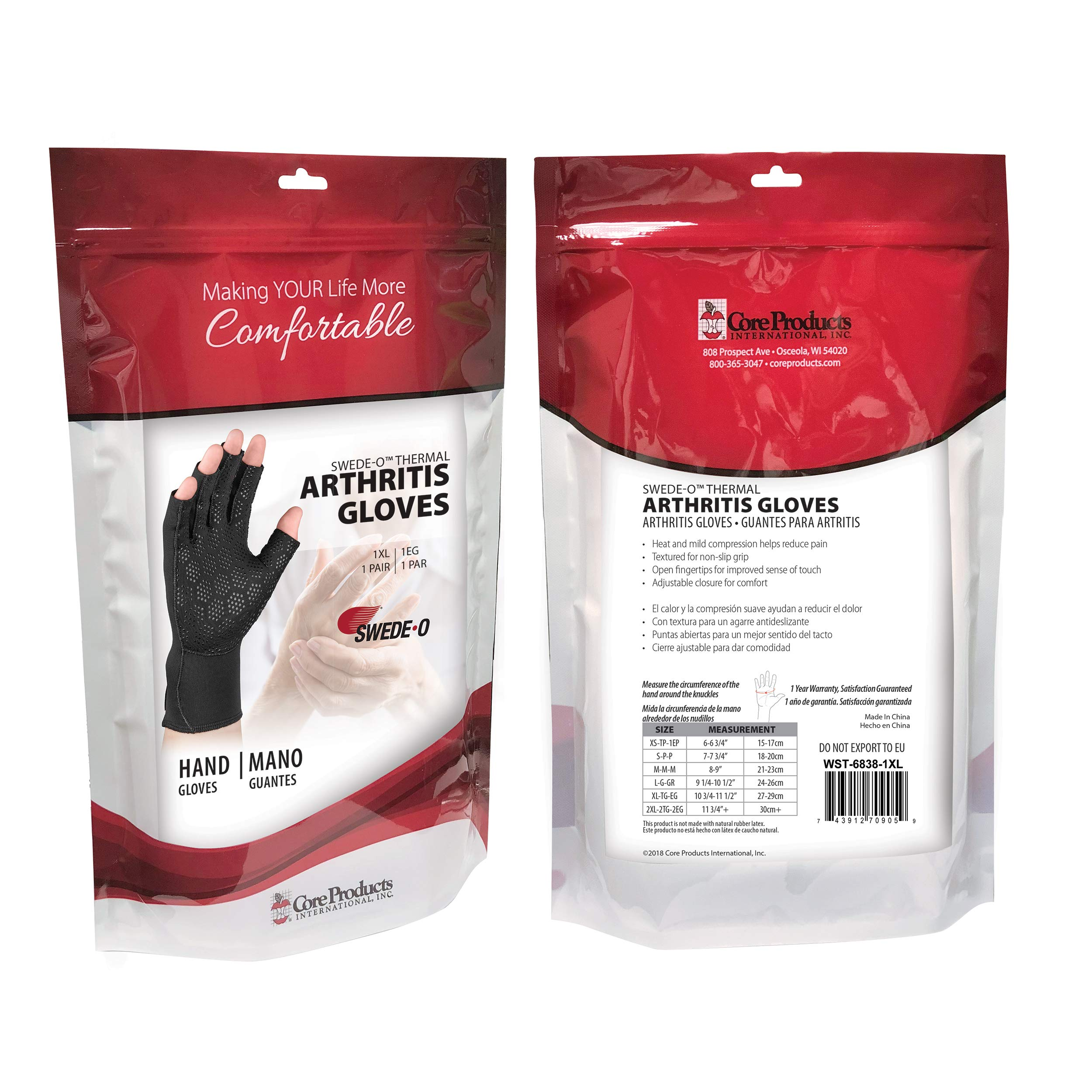 Swede-O Thermal Arthritic Gloves, Pair - Large by Swede-O (Image #4)