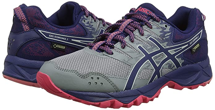 Amazon.com | ASICS Womens Gel-Sonoma 3 G-TX, Stone Grey/Pixel Pink | Road Running