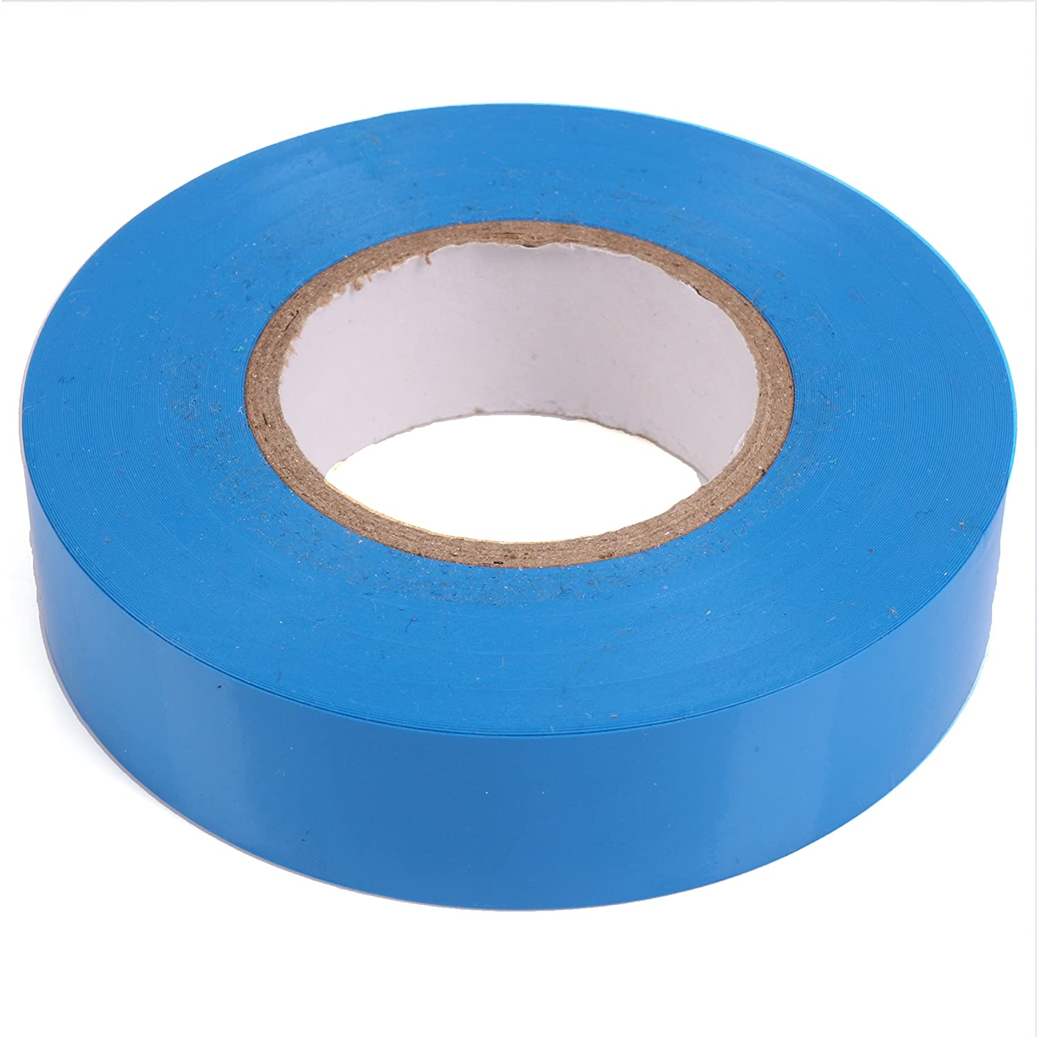 19mm Blue Insulation Tape PVC Electricians 20m Roll (Pack of 5) White Hinge