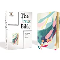 The Jesus Bible Artist Edition, NIV, Leathersoft, Multi-color/Teal, Comfort Print
