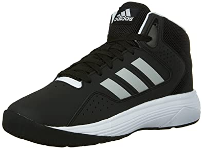 Adidas Neo Men's Cloudfoam Ilation Mid Basketball Shoe,Black/Metallic  Silver/White,