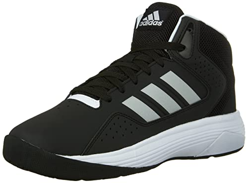 adidas Men's Cloudfoam Ilation Mid Sneakers, Core Black/ Matte Silver/  Footwear White,