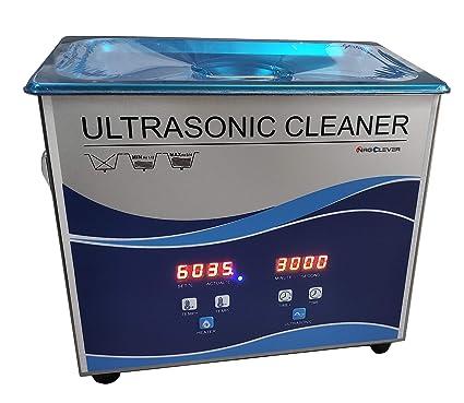 UC30LA Limpiador Ultrasónico, Equipo de Limpieza por Ultrasonidos con Temporizador y Calentador, para dentaduras