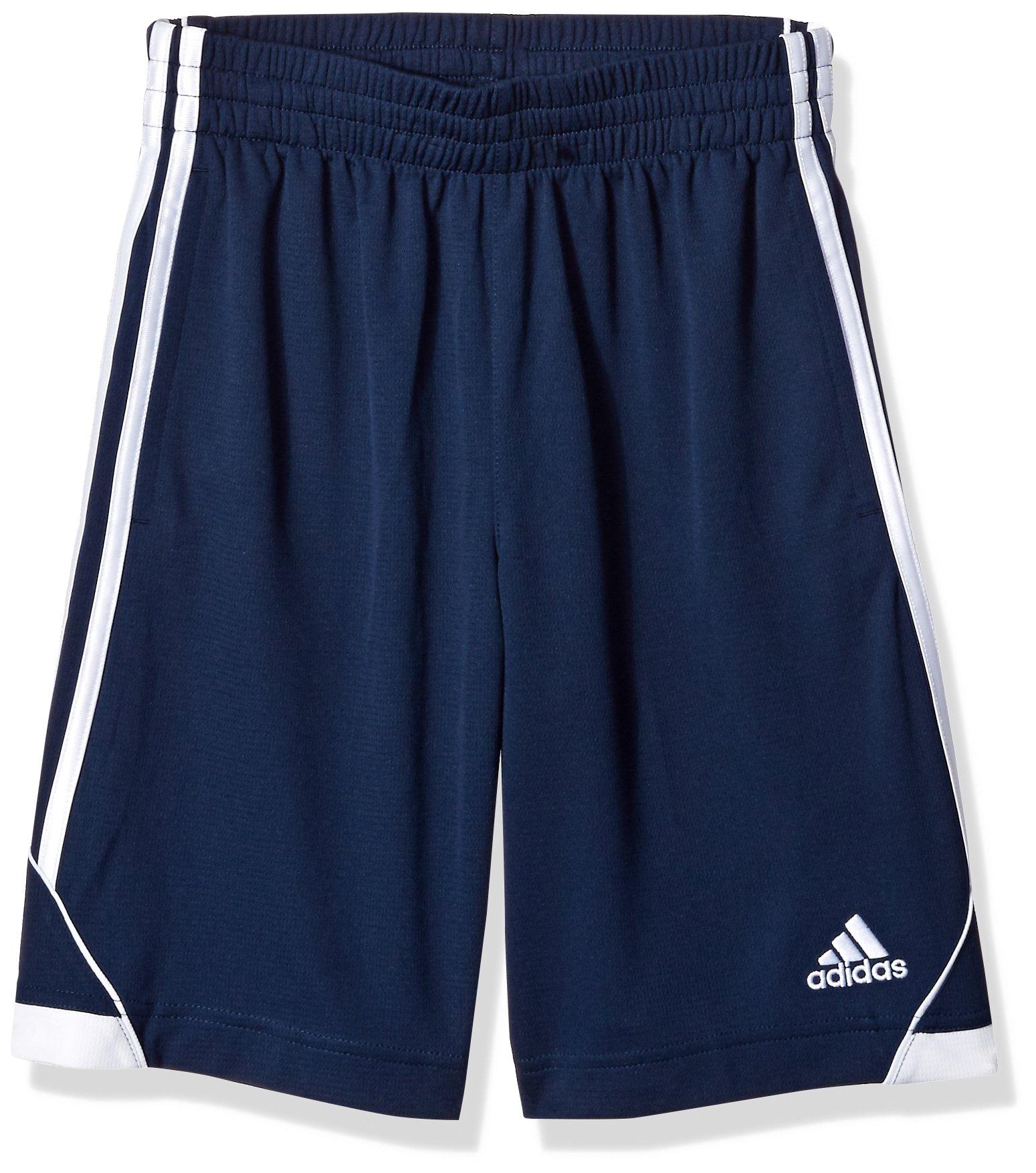 adidas Big Boys' Athletic Short, Navy, M