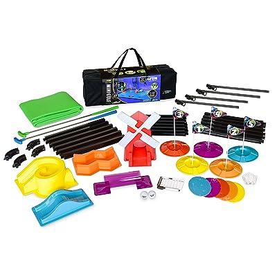 4 Fun Cosmic Mini Golf - 5 Hole Set (Deluxe Glow) (Fun.006): Toys & Games