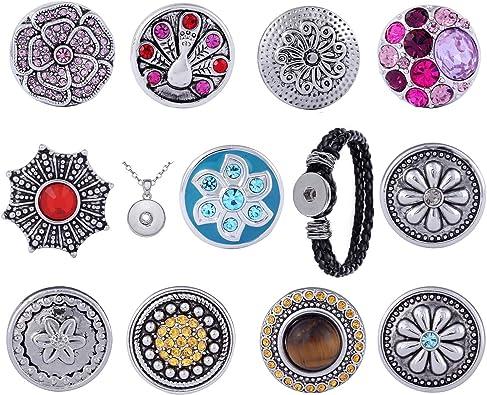 Boutons-pression Femmes Click-Button avec Strass pour Bracelet Collier vous le Modèle
