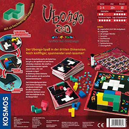 KOSMOS 6908470 Ubongo 3D - Juego de Mesa: Amazon.es: Juguetes y juegos