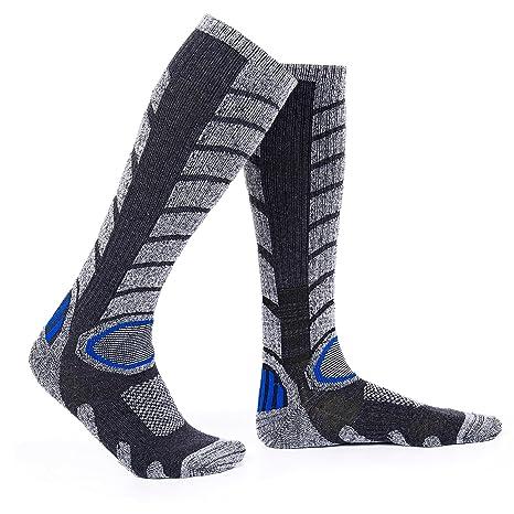 Diealles Calcetines para Hombres de Esquí para Esquiar, IR de Excursión (L 39-
