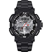 TIMEWEAR Analogue Digital Sports Stainless Steel Chain Watch for Men
