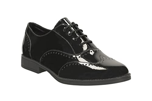 61077fb6ec49e Clarks Sami Flash Girl s Lace-up School Shoes 3½ F Black Patent ...