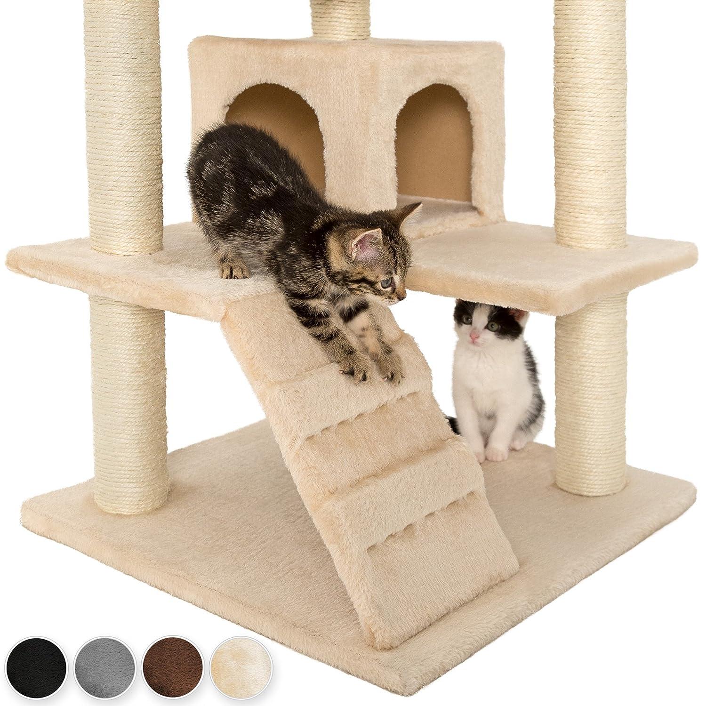 TecTake Rascador Para Gatos Árbol Para Gatos Trepar Sisal Juguetes ...