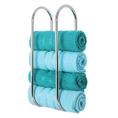 LIVIVO ® Chrome Plated Wall Mounted Oceana Bathroom Towel Rail ...