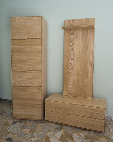 Ebanisteria Gambella - Muebles de pasillo en madera de fresno ...