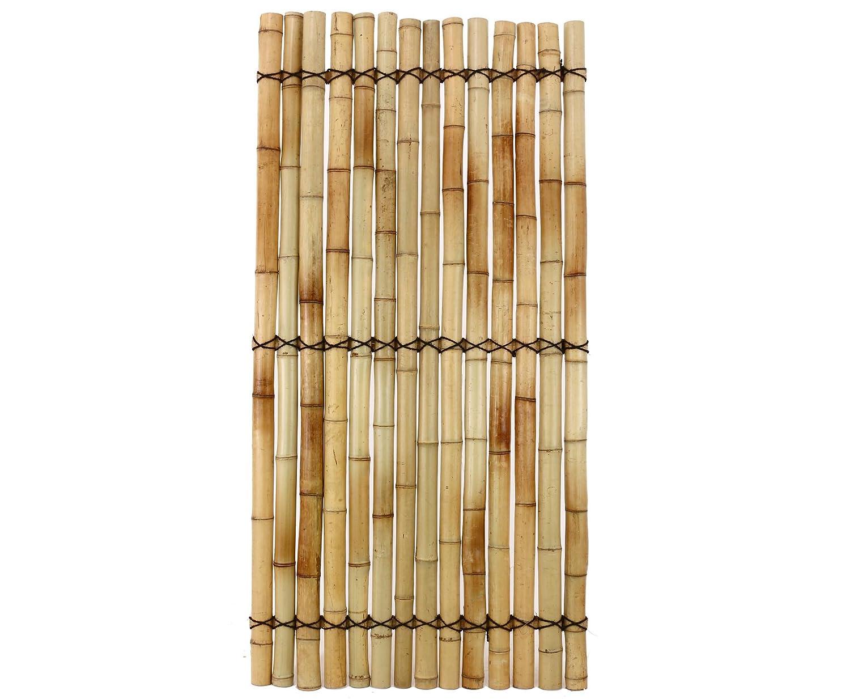 """Bambus Wandelement """"Apas15"""" 180x90cm aus gelblichen halben"""