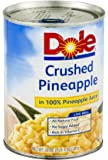 Dole, Pineapple, Crushed in 100% Pineapple Juice, No Sugar Addaed, 20 Ounce Can (Pack of 4)