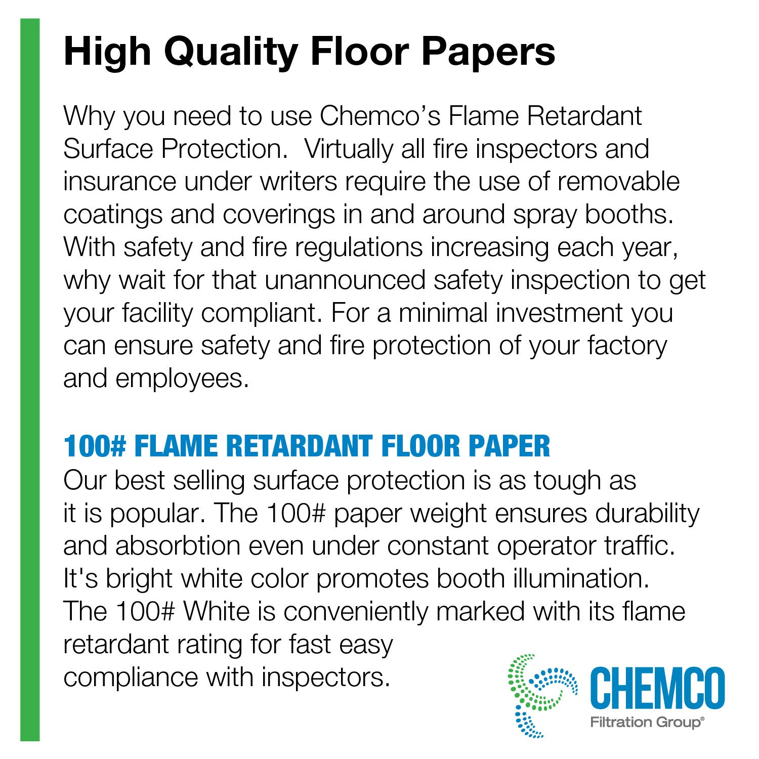 1 Roll 36SKFRP 300x36 100# White Flame Retardant Floor Paper Roll Flame Retardant Surface Protection K/&L Services