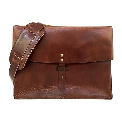 c5810c306d Full Grain Leather Messenger Bag   Laptop Satchel by Jackson Wayne (Vintage  Brown)