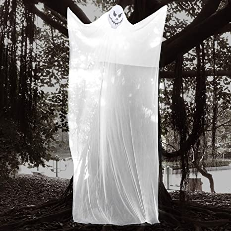 Large Hanging Outdoor Halloween Decorations.10 Ft Hanging Ghost Props For Halloween Decorations Large Scary Decorations Inddor Outdoor Halloween Decor Amazon In Garden Outdoors