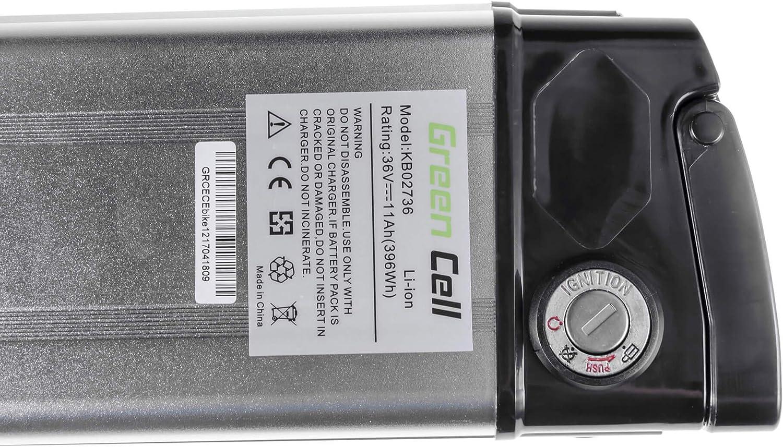 GC/® E-BIKE Battery 36V 11Ah Electric Bicycle Bike Silverfish Bio Bike Specialized Radon with Li-Ion Panasonic Cells and Charger