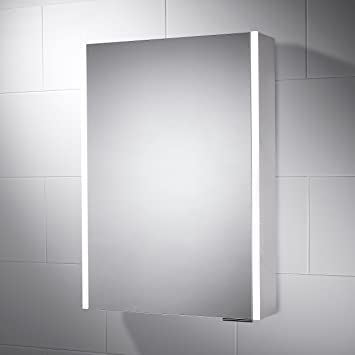 500 X 700 Sienna LED Illuminated Cabinet Bathroom Mirror With Built In Shaver Socket And