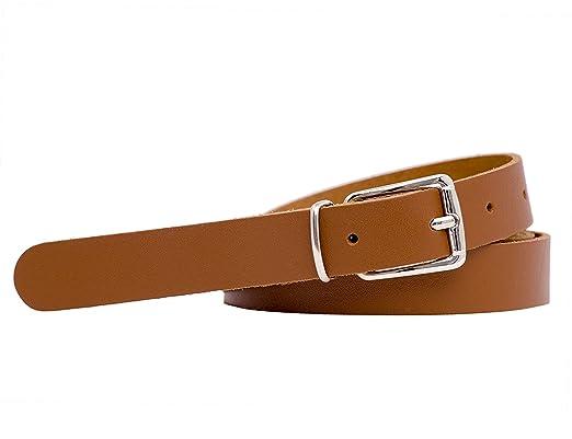 d5ca0d2c6452ed shenky Schmaler Ledergürtel 2 cm breit Gesamtlänge 85 cm bis 130 cm Farbe  Cognac Braun Gesamtlänge