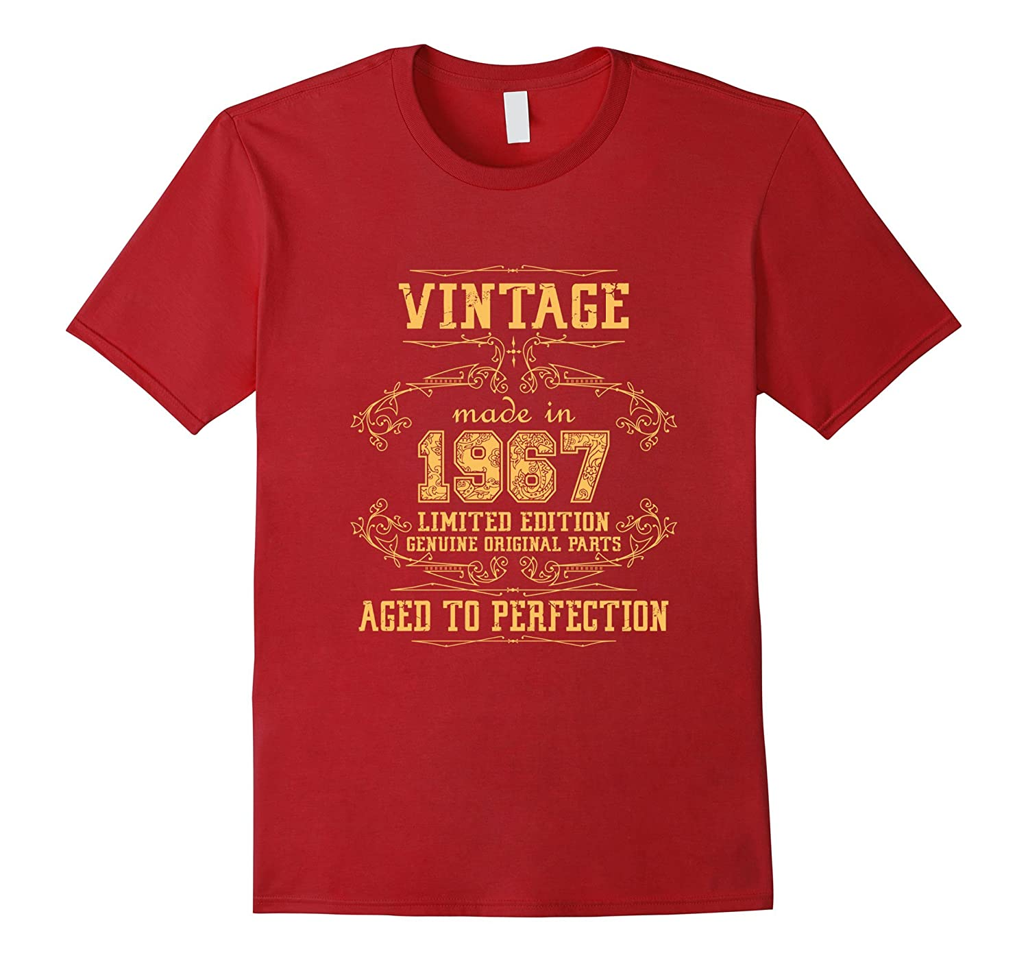 50th Birthday Party Vintage Made In 1967 T Shirt PL