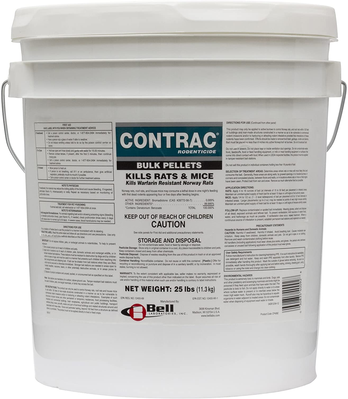 5 packs CONTRAC Place Pacs Pellet Kill Rat Mouse Mice Rodent Professional Bait