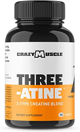 Creatine Monohydrate Pills 2 Month Supply 5,000mg Per Serving – 180 Capsules – Muscle Gain Supplement with Over 5g of Monohydrate, Pyruvate AKG – Optimum Strength Creatine Tablets