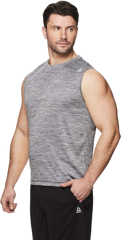 Sleeveless Workout /& Training Activewear Gym Shirt Reebok Mens Muscle Tank Top