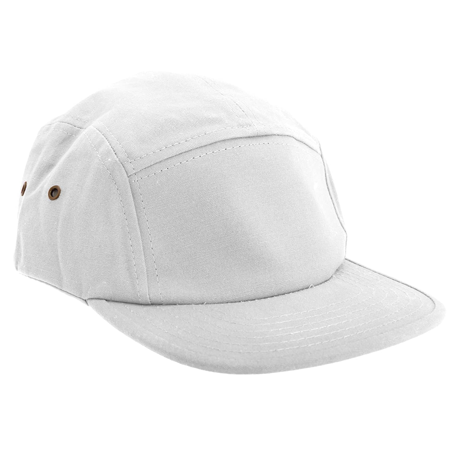2892db260e5 Beechfield Canvas 5 Panel Classic Baseball Cap (One Size) (Black) at Amazon  Men s Clothing store