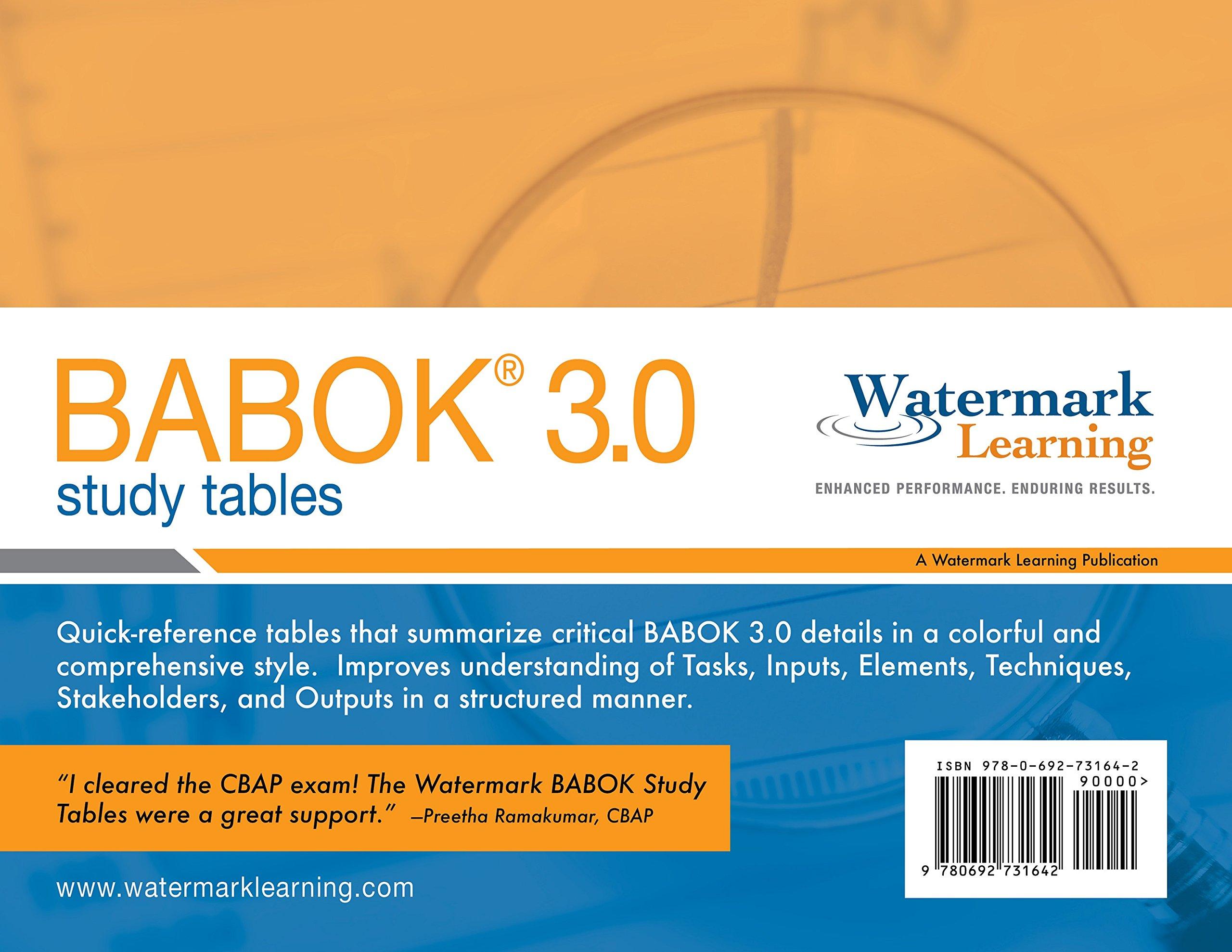 Babok 30 Study Tables Richard Larson Elizabeth Larson