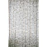 Lesli Living chenilla cortina para puerta gris/blanco 90 x 220 cm